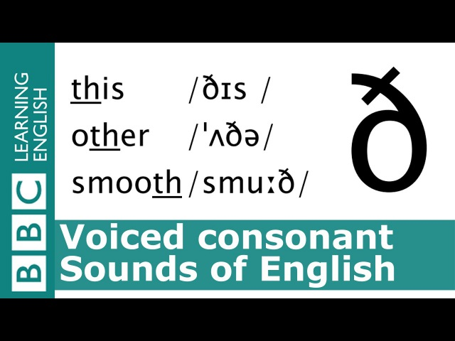 Say this, other, smooth. Voiced Consonants. Pronunciation Tips. [ð]