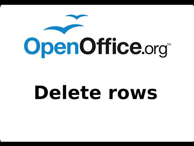 How to Delete Rows from OpenOffice CALC (spreadsheets) Tutorial