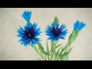 How To Make Cornflower Paper Flower From Crepe Paper Craft Tutorial