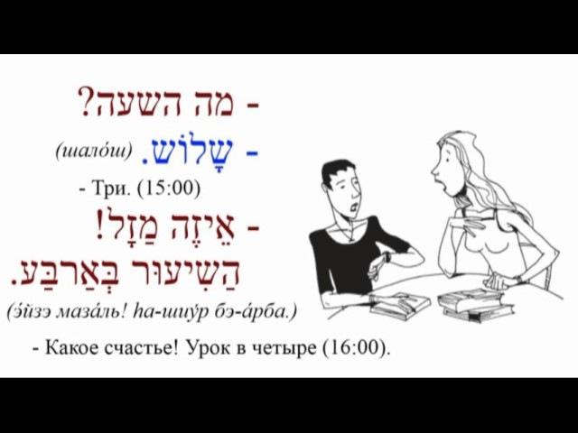 МИНИ-ДИАЛОГИ на тему «КОТОРЫЙ ЧАС?» (иврит)