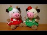 Tutorial Mucca Uncinetto - Amigurumi - Cow Crochet - Vaca Croche