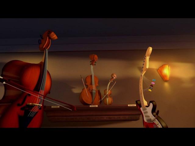 Короткометражный музыкальный мультфильм Живая музыка