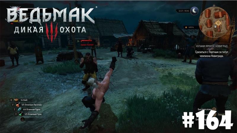 Ведьмак 3: Дикая Охота (Witcher 3). Подробное прохождение 164 - Кулаки ярости: Новиград