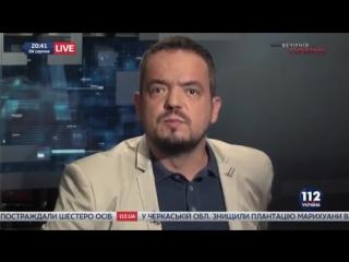 Евгений Мураев и Иван Винник, нардепы, в Вечернем прайме телеканала 112 Украина,.2016