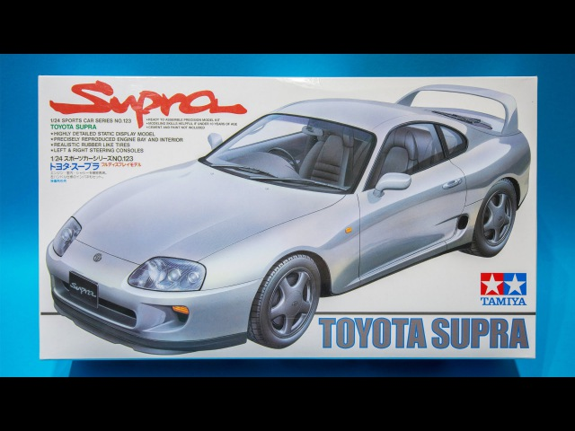 Tamiya 1/24 Toyota Supra Model Kit Unboxing And Review