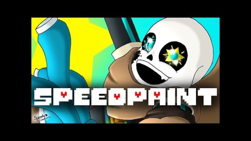 SpeedPaint!! Ink!Sans w Puppy eyes (kinda) (Undertale AU)