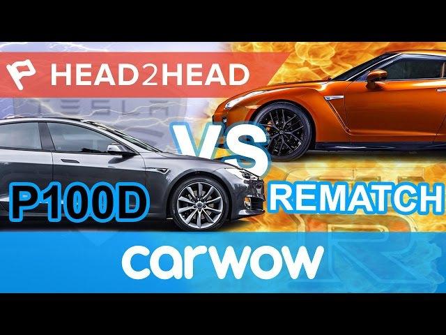 Tesla Model S P100D Ludicrous Plus vs Nissan GT-R acceleration challenge   Head2Head