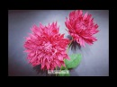 Crepe paper flower, How to make Paper Dahlia flower from crepe paper