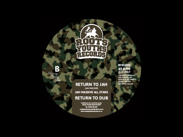 RETURN TO JAH \ PROMISED LAND JAH MASSIVE ALL STARS BRAND NEW ROOTS YOUTHS RECORDS RYR 12033 2017