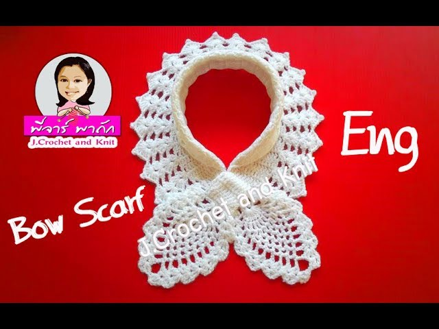Crochet : Bufada,Chalina o Cuello Hojitas en Relieves tejido a crochet(How to crochet bow scarf)