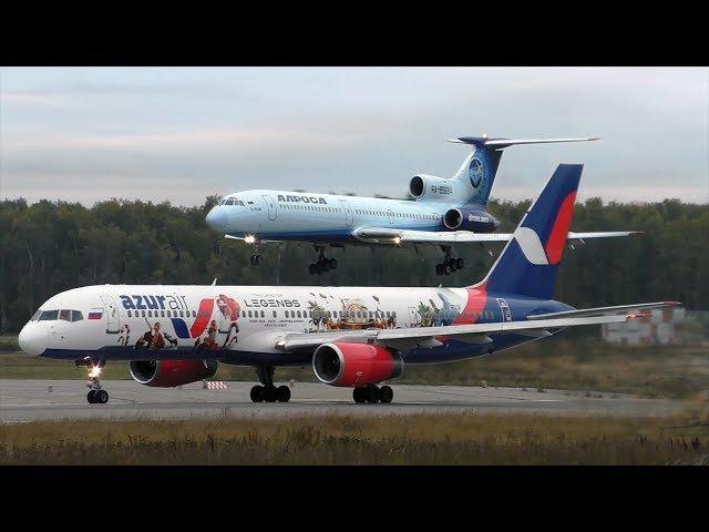 Аэропорт Домодедово 100 взлетов и посадок за 1 час 01 10 2017