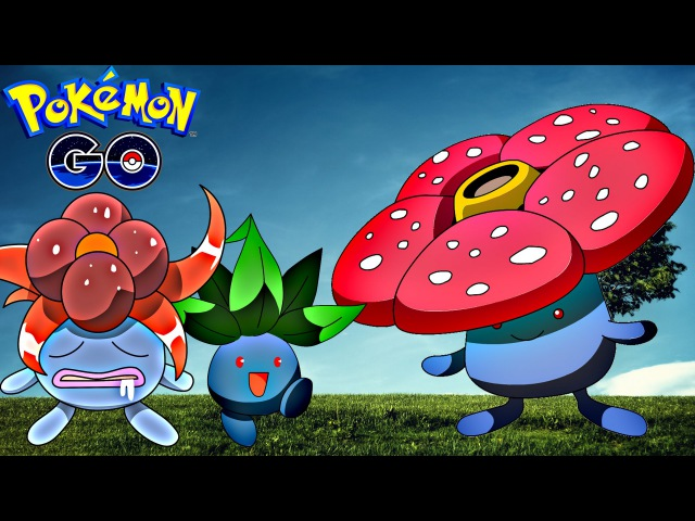 Pokemon Go / Покемон Го ► Эволюция покемона Oddish ◓ Gloom ◓ Vileplume ► 45