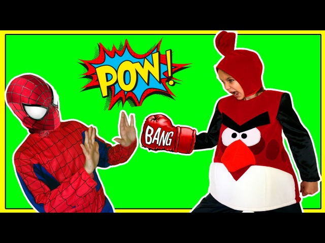 Angry Birds VS SpiderMan ★ Angry Red Bird attack Spider Man in Real Life
