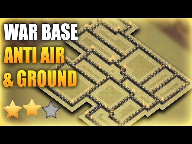 TH9 (Town Hall 9) War Base 2017 Anti GROUND AIR (9x% Base) | Clash Of Clans