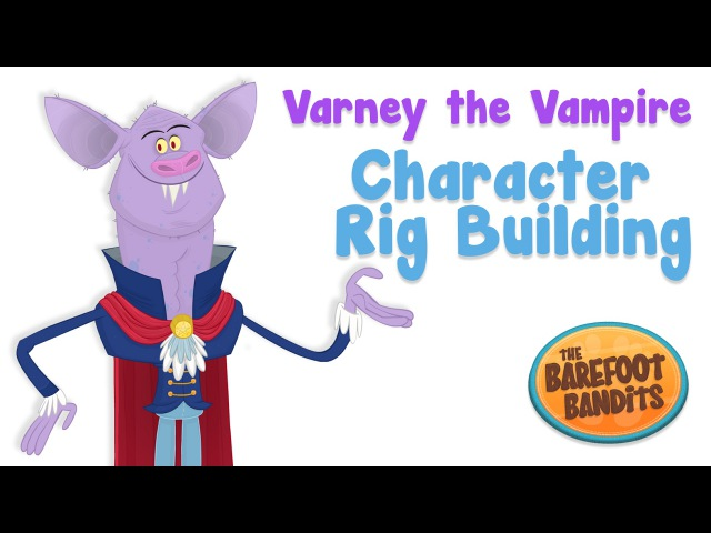 Character Rig Building in Flash - 'Vampire' Time-lapse
