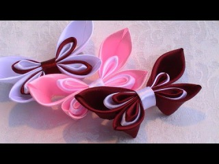 Как Сделать Бантик из Ленты / How to make a hair bow