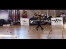 Fantastic little girl Rollerblade Freestyle Slalom World Championship Paris 2014 dancing
