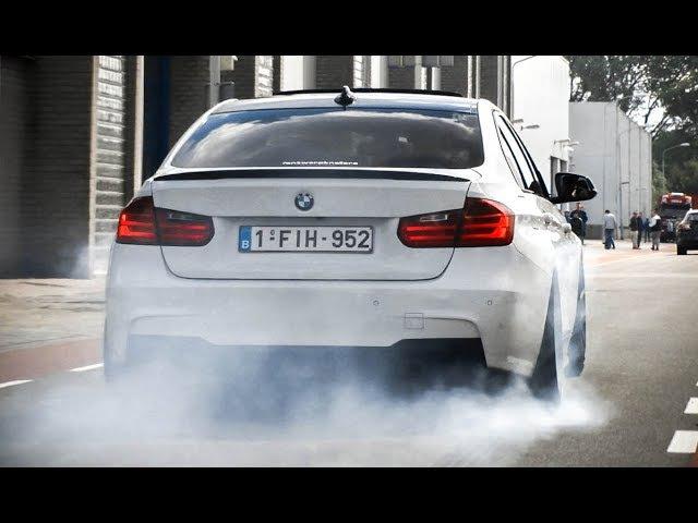 MODIFIED BMW 335i - BURNOUT, Revs Accelerations!