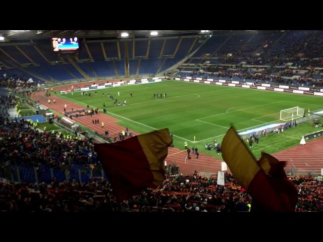 Roma - Cesena 2-1 01/02/2017 Gol di Francesco Totti, esultanza e Grazie Roma