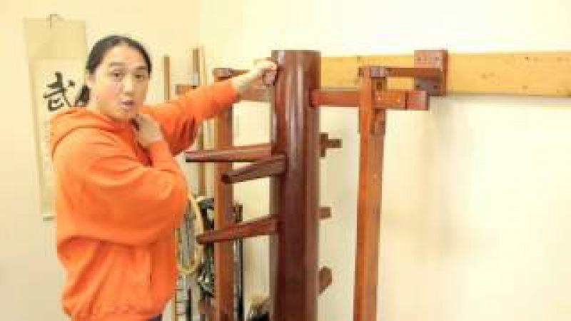 Wing Chun Muk Jong (Wooden Dummy) Beginners Training Drill Developing One Technique