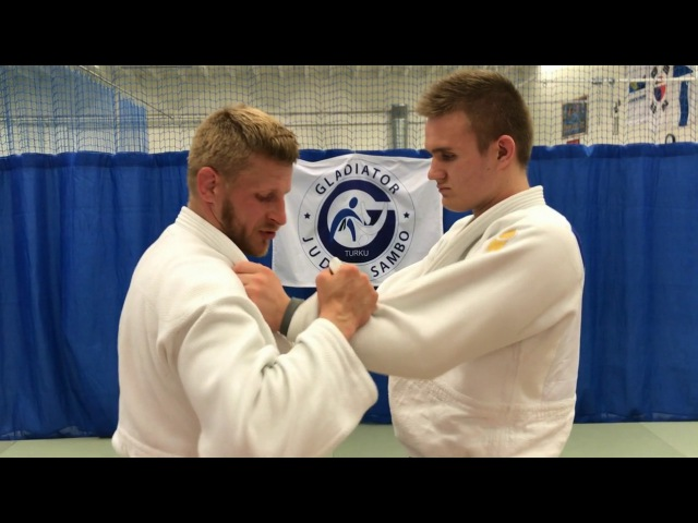 Дзюдо.Бросок с рукавами.передняязадняя Judo.Sode Tsurikomi Goshi.tai otoshiosoto gari