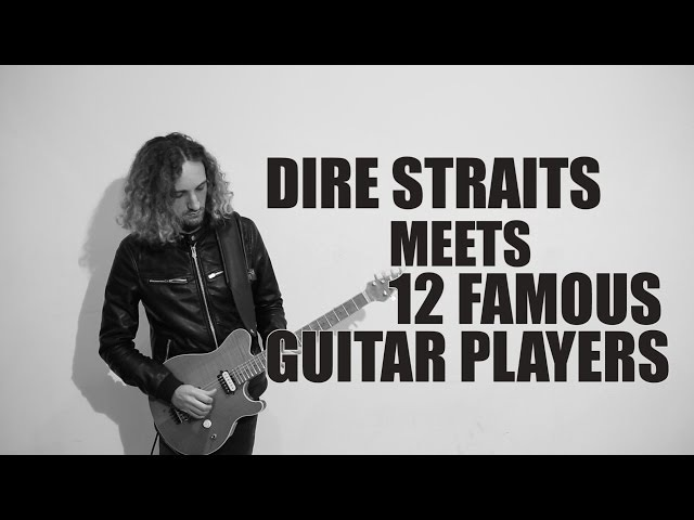 DIRE STRAITS meets solos by 12 FAMOUS GUITAR PLAYERS | Sultans of Swing | Mashup by Andre Antunes