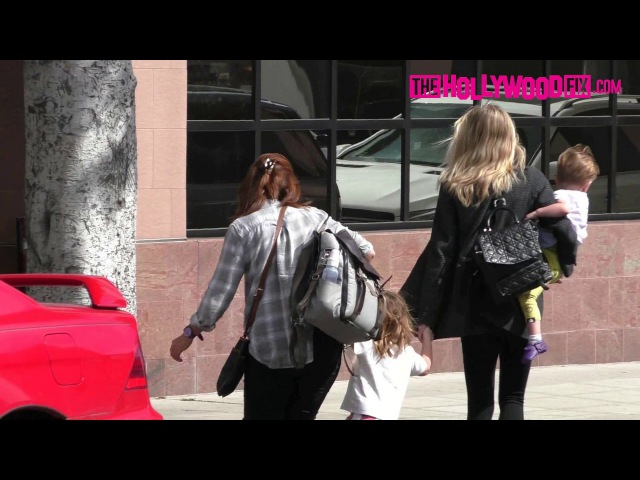 Jaime King Takes Her Two Sons James Leo Out On A Shopping Trip With The Nanny 4.18.17