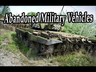 Abandoned Military Vehicles Graveyards. Forgotten Tank Wrecks. Rusty Military Equipment & Vehicles