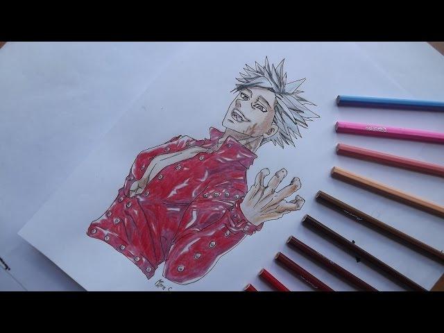 Speed anime drawing - Nanatsu no Taizai Seven Deadly Sins - Ban! Семь смертных грехов - Бан!