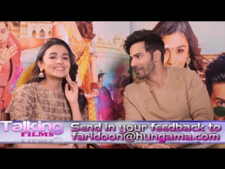 Varun Dhawan - Alia Bhatt Badrinath Ki Dulhania EXCLUSIVE - We Are ACTUAL Friends