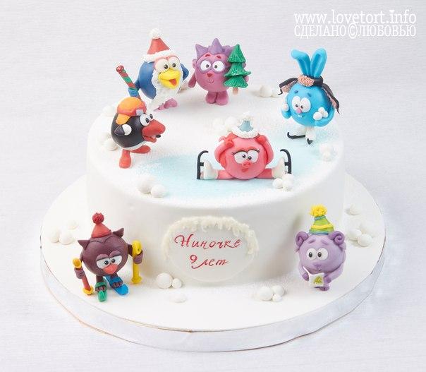 """Торт """"Смешарики зимой"""" cake"""