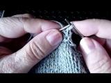 Обработка горловины и пройм полым шнуром.Вязание с