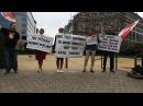 Пікет у Бруселі словы падтрымання беларускім актывістам Пикет в Брусселе Белсат