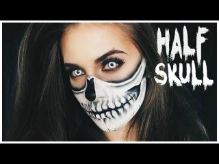 Half Skull Halloween Makeup Tutorial / Lisa-Marie Schiffner