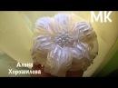 Банты в школу пышный бант из лент МК Канзаши Алена Хорошилова DIY tutorial kanzashi ribbon bows bow