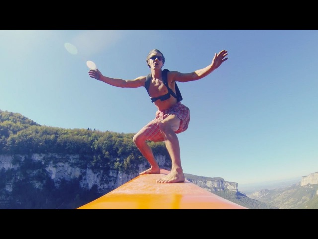 The Flying Frenchies Surf and BASE Jump From a Zipline