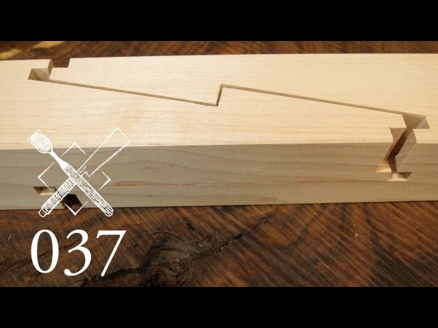 Joint Venture Ep.37: Rabbeted oblique dadoed keyed scarf jointHako kakushi tsugi(Japanese Joinery)