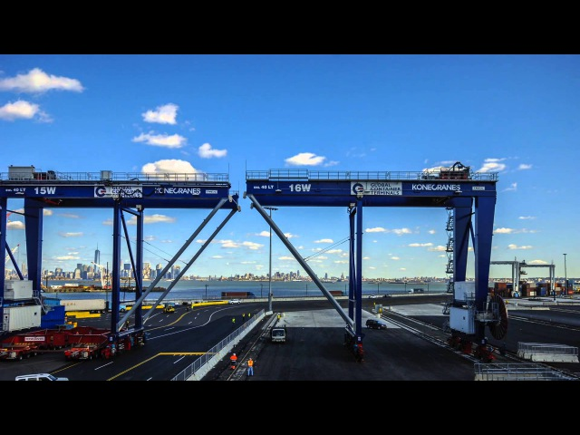 GCT Bayonne's First Five RMGs from Konecranes Unloading