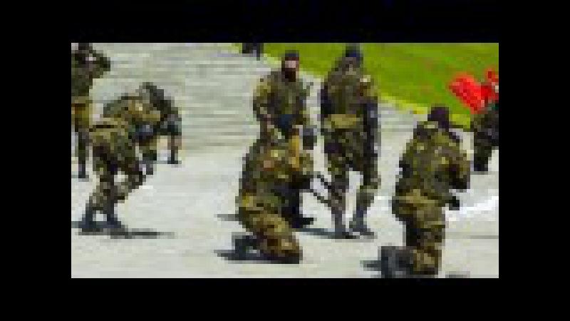 Показательные выступления белорусского спецназа. Часть 2 (Присяга на Кургане Сл ...