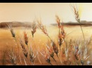 Watercolor Fields of Wheat Painting Demonstration