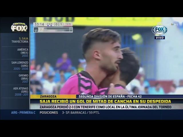 CENTRAL FOX - Sebastián Saja sufrió un gol de mitad de cancha en su despedida del fútbol.
