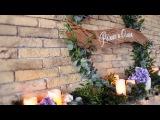Красивое и простое свадебный оформление на свадьбе Романа и Ольги в кафе Prime в Ми...
