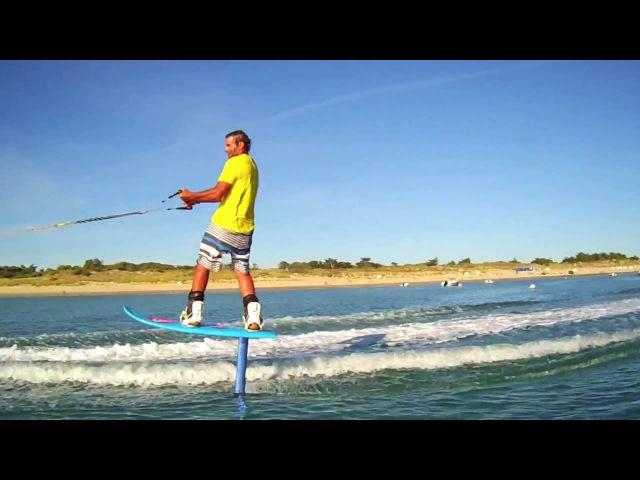 Foil boarding with Antoine Albeau