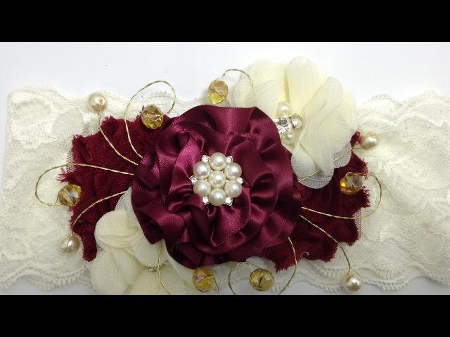 Tiara para ceremonia tinto beige VIDEO NO 402