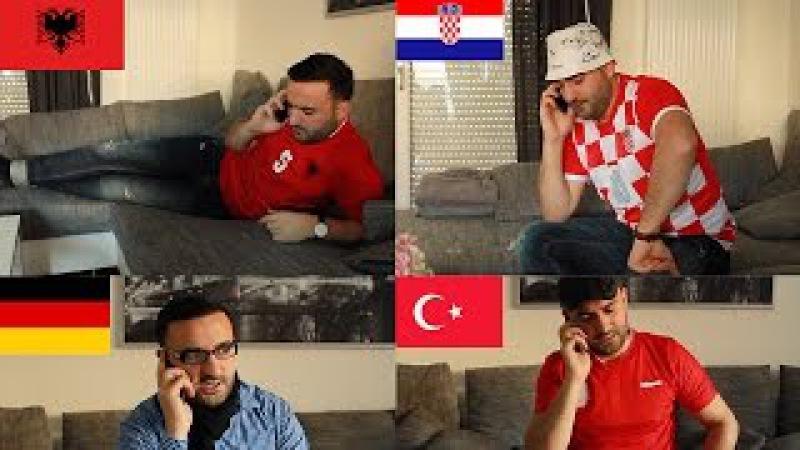 Ausländer am Telefon (Albaner, Kroate, Türke und Deutscher)