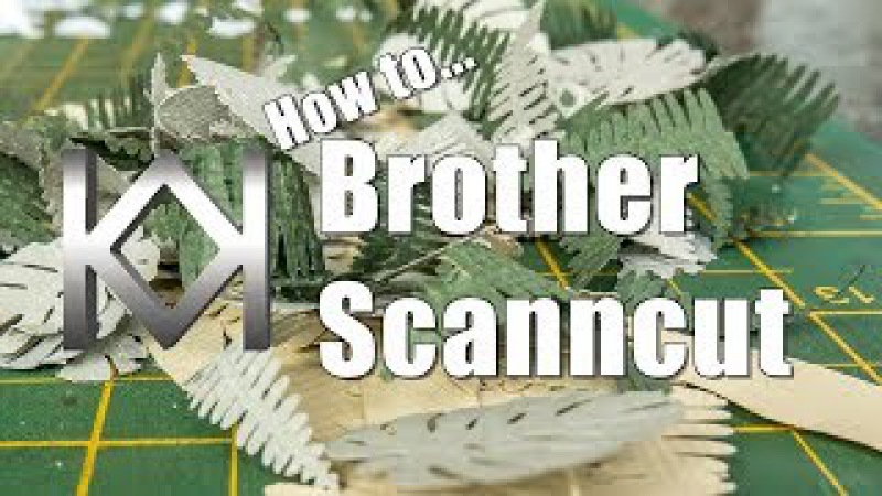 How to use the Brother Scanncut for Modelling Vegetation