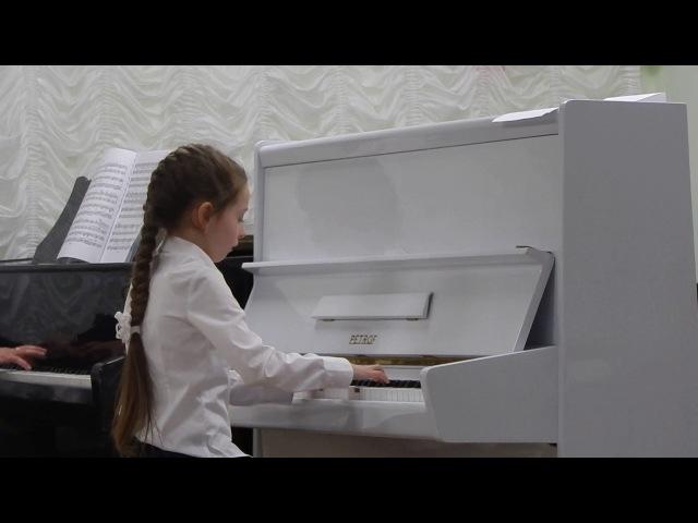 И.Беркович. 2-й концерт. Исполняет Рада Гулевская, 7 лет.