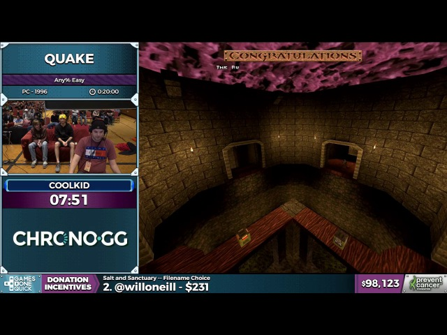 Quake (1996) speedrun By CoolKid (AGDQ 2017)