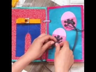 Чем полезным занять ребенка - книжкой-развивашкой из фетра!