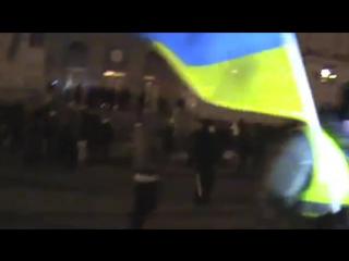 Черкассы. 26 января, 2014. Автомайдан против Беркута. ОГА.